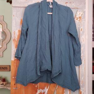 Boutique lagenlook cardigan 100% cotton
